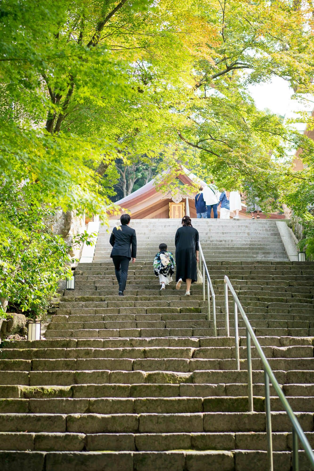 竈門神社の階段