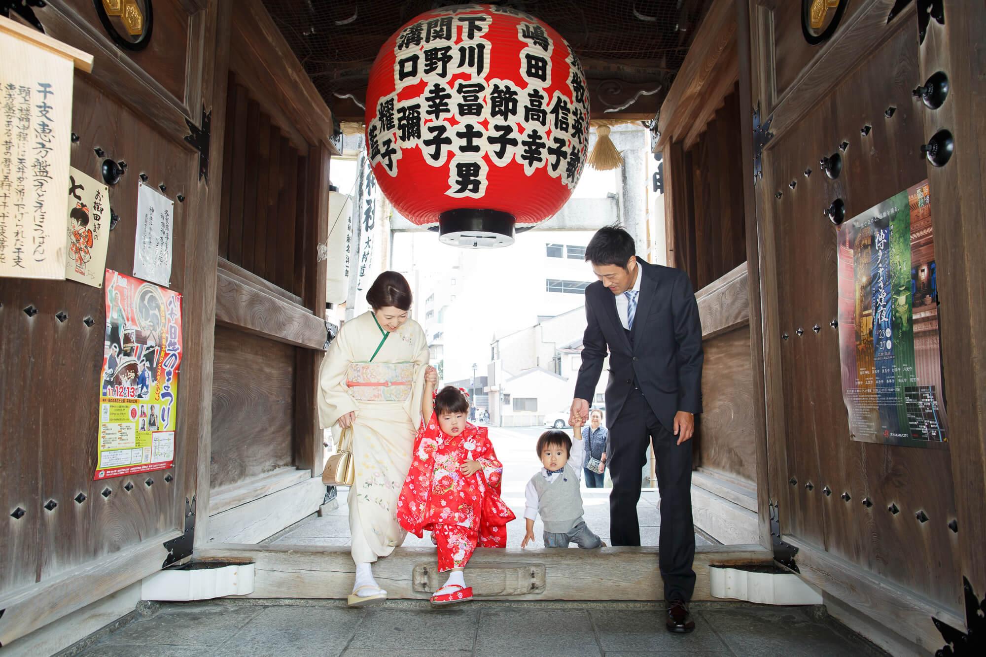 櫛田神社の提灯