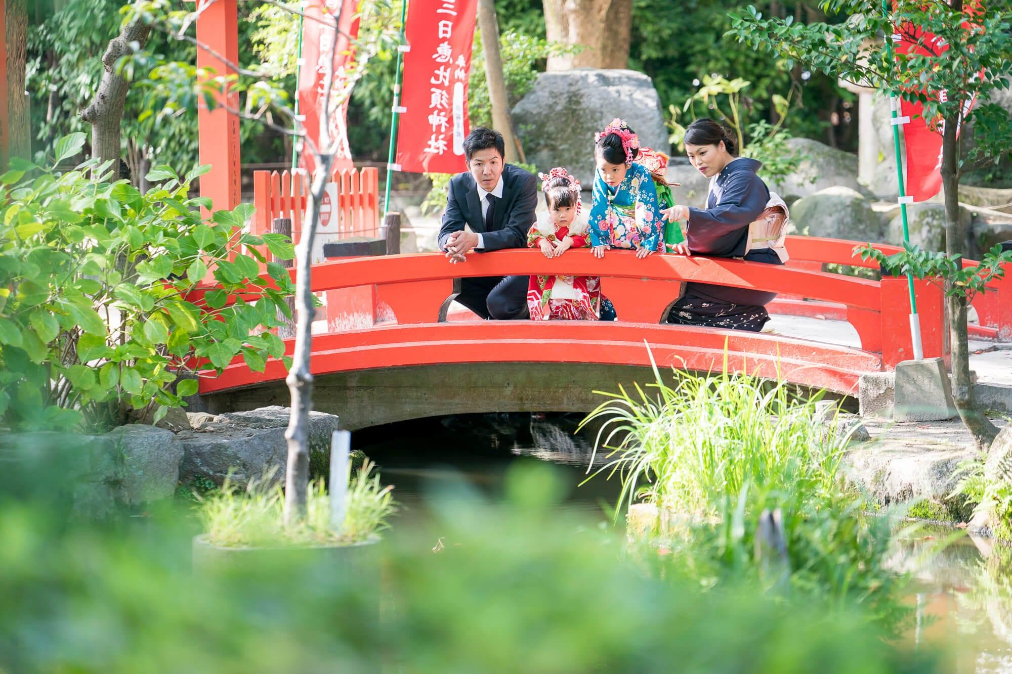 住吉神社 三日恵比寿神社の橋