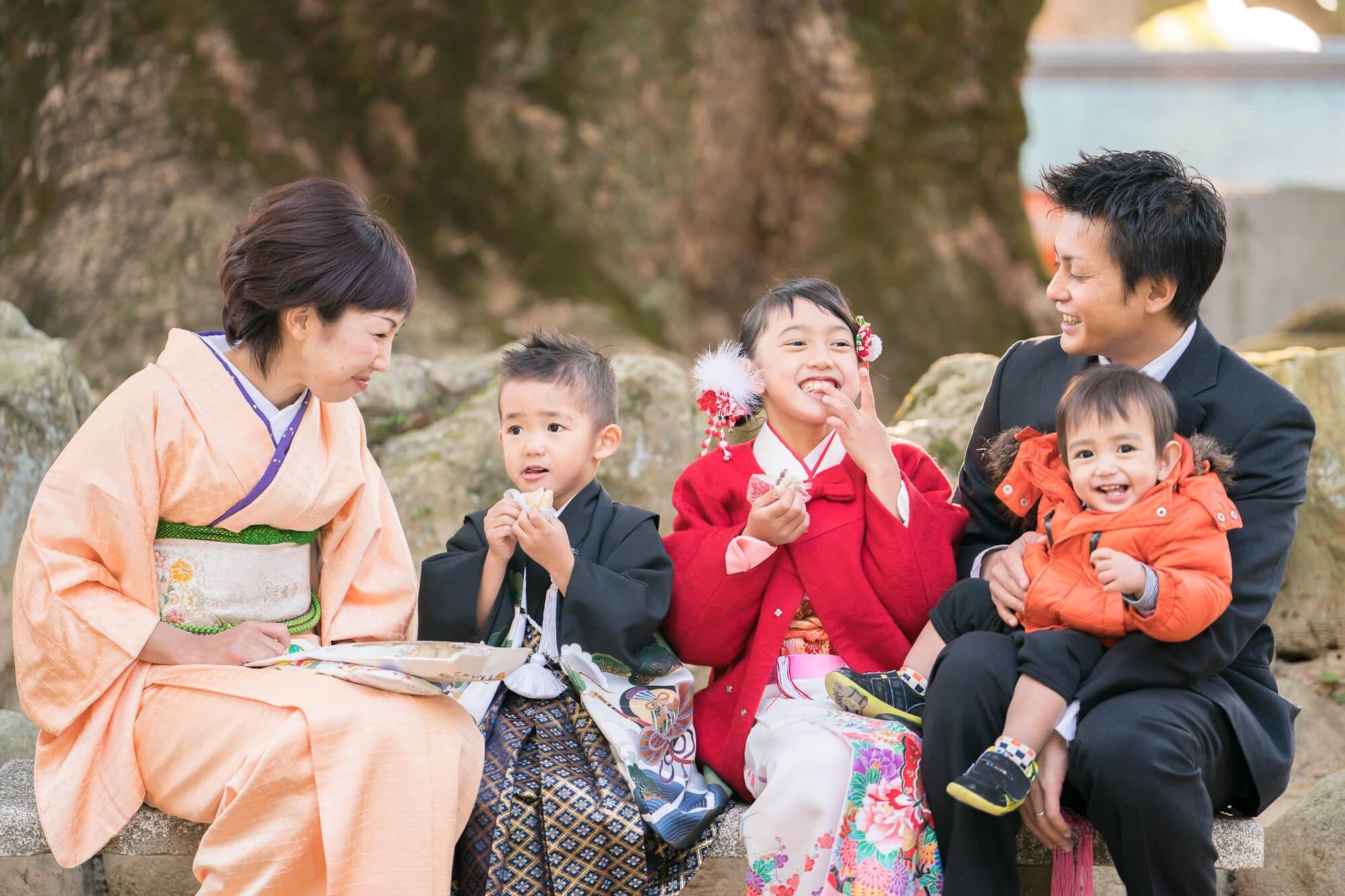 宇美八幡宮で子安餅を食べる