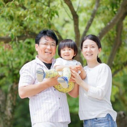 大濠公園で家族写真