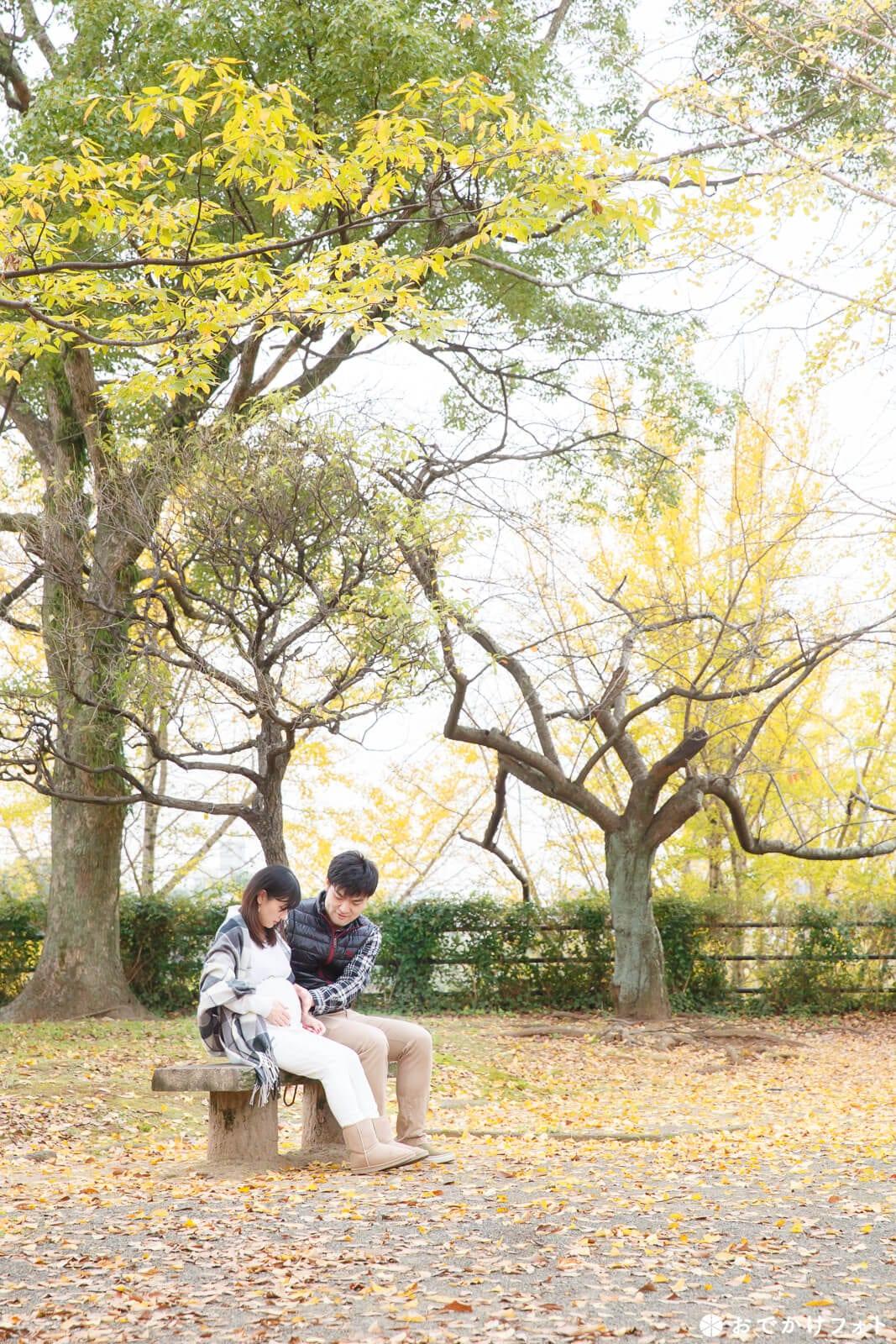 舞鶴公園でマタニティフォト