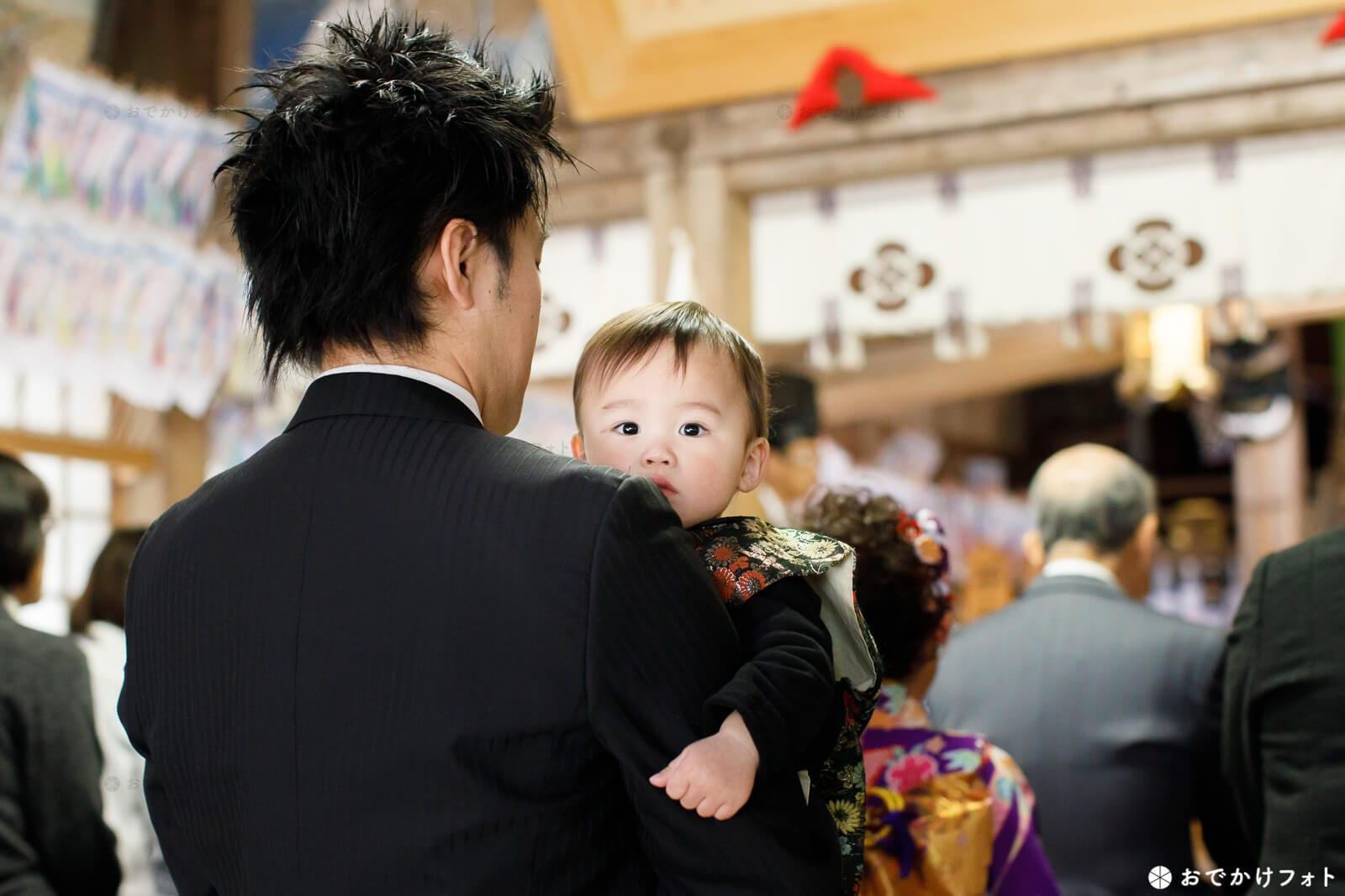 飯盛神社でお餅踏み