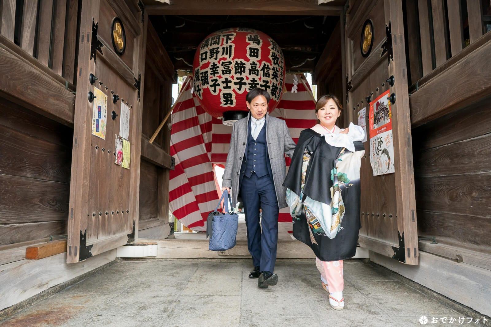 櫛田神社でお宮参り