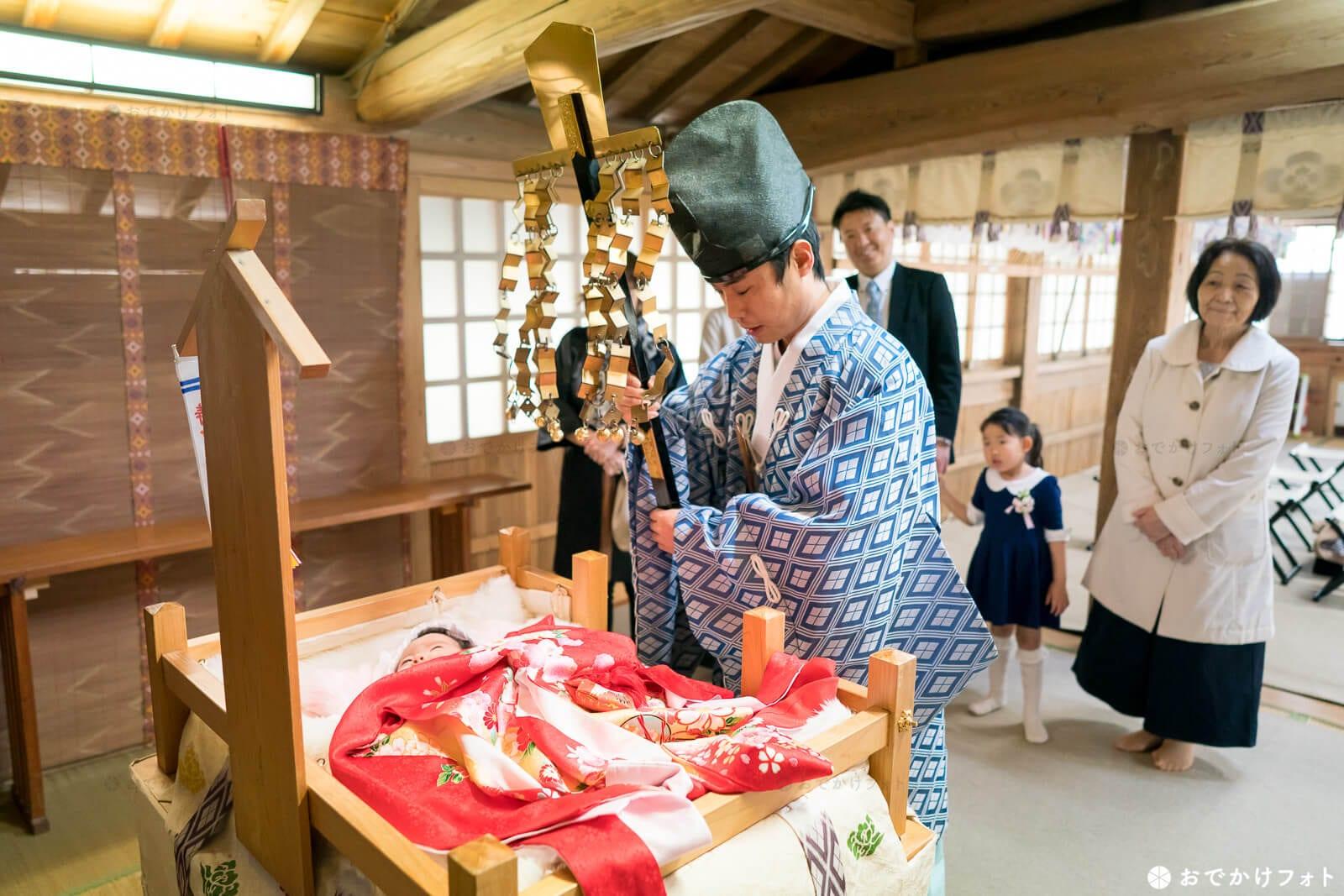 飯盛神社でお宮参り、子安台で祈願