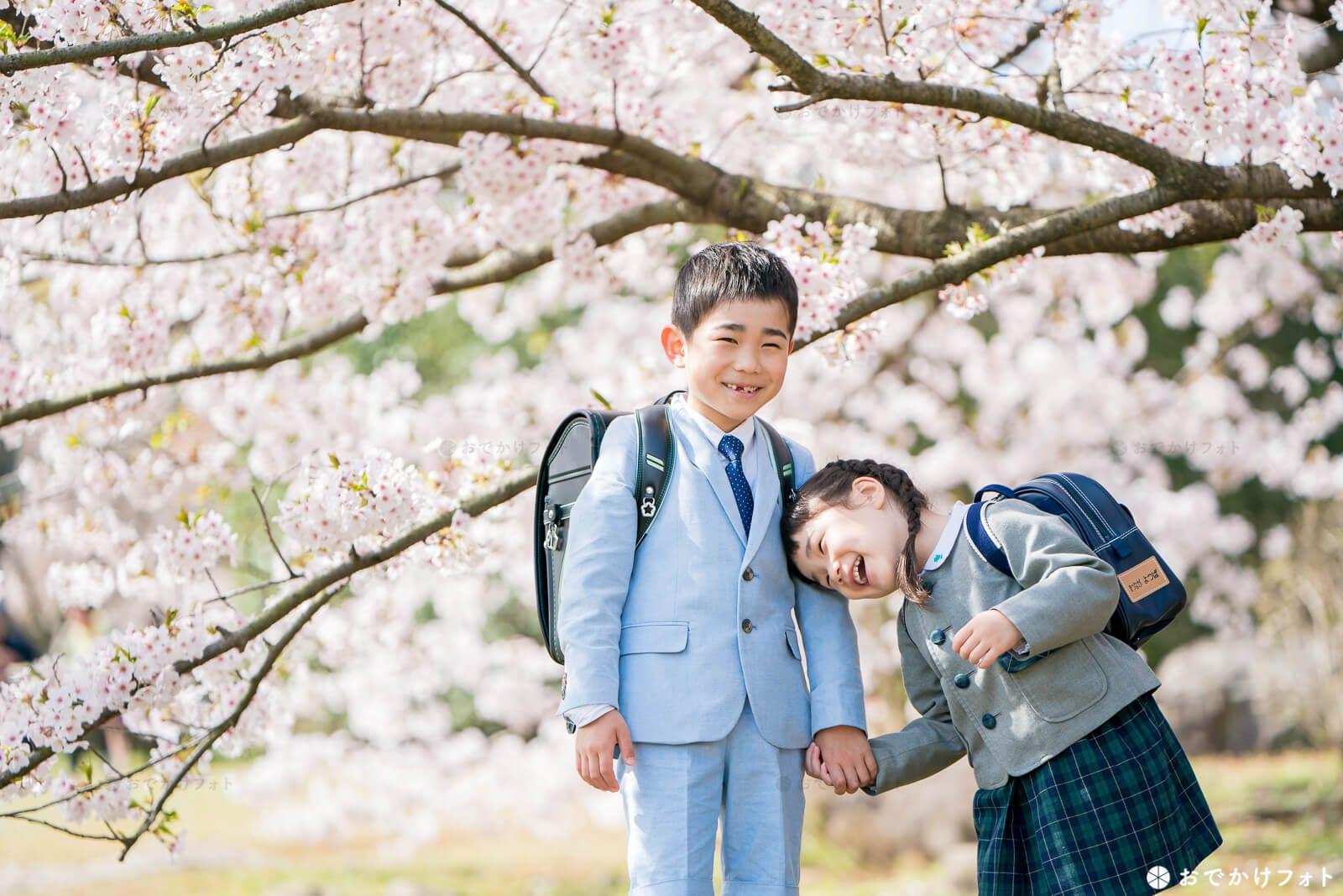 入園入学のロケーションフォト