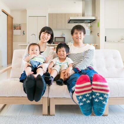 宇佐市でご新居記念の家族写真