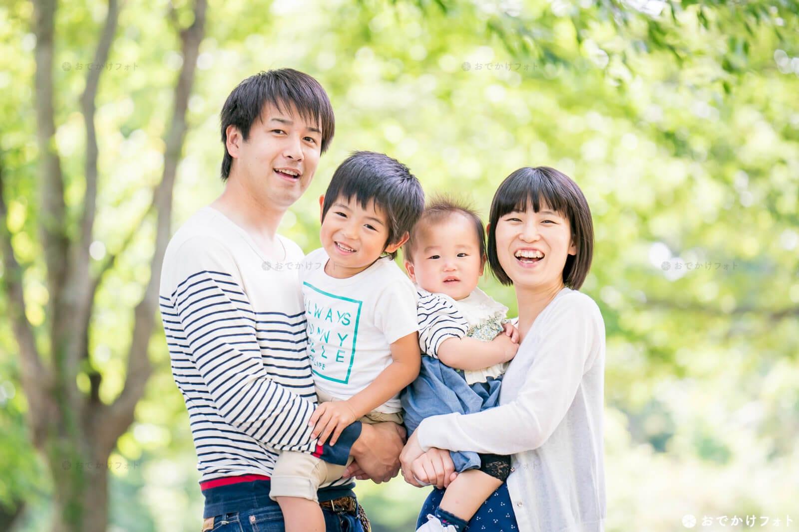 新居記念の家族写真