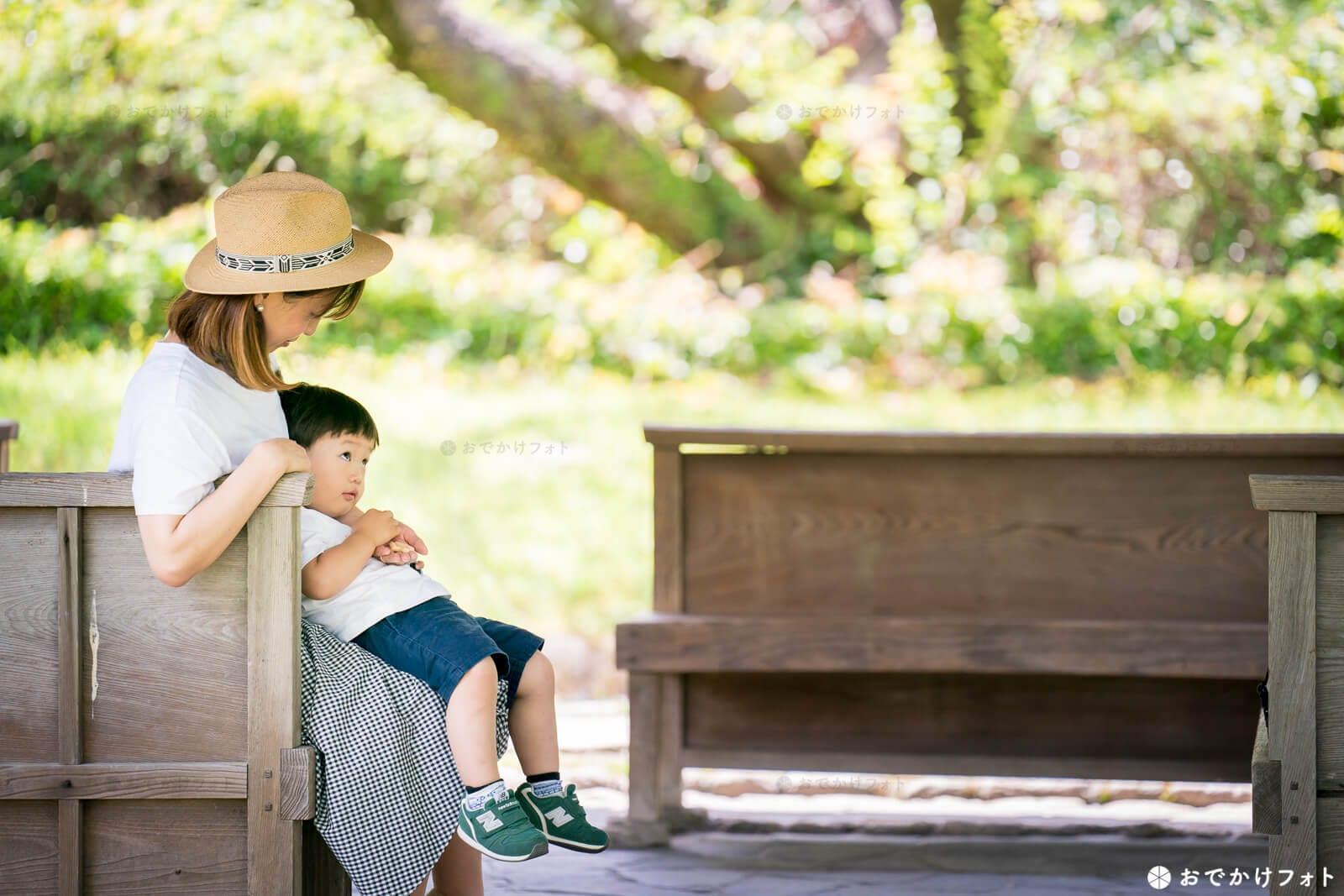 舞鶴公園で家族写真