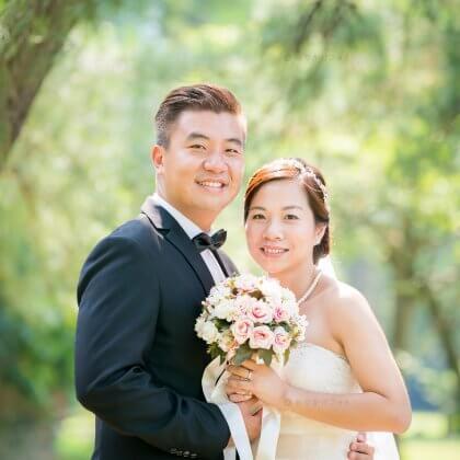 小戸公園で結婚10周年記念の家族写真