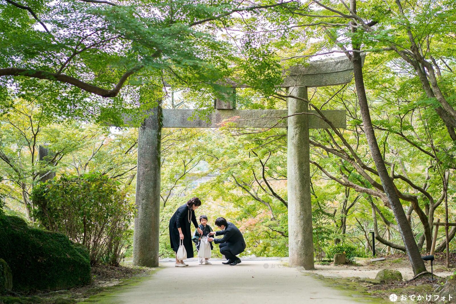 竈門神社で七五三