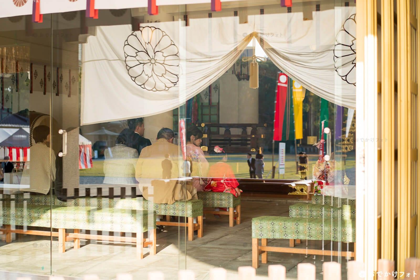 護国神社で七五三