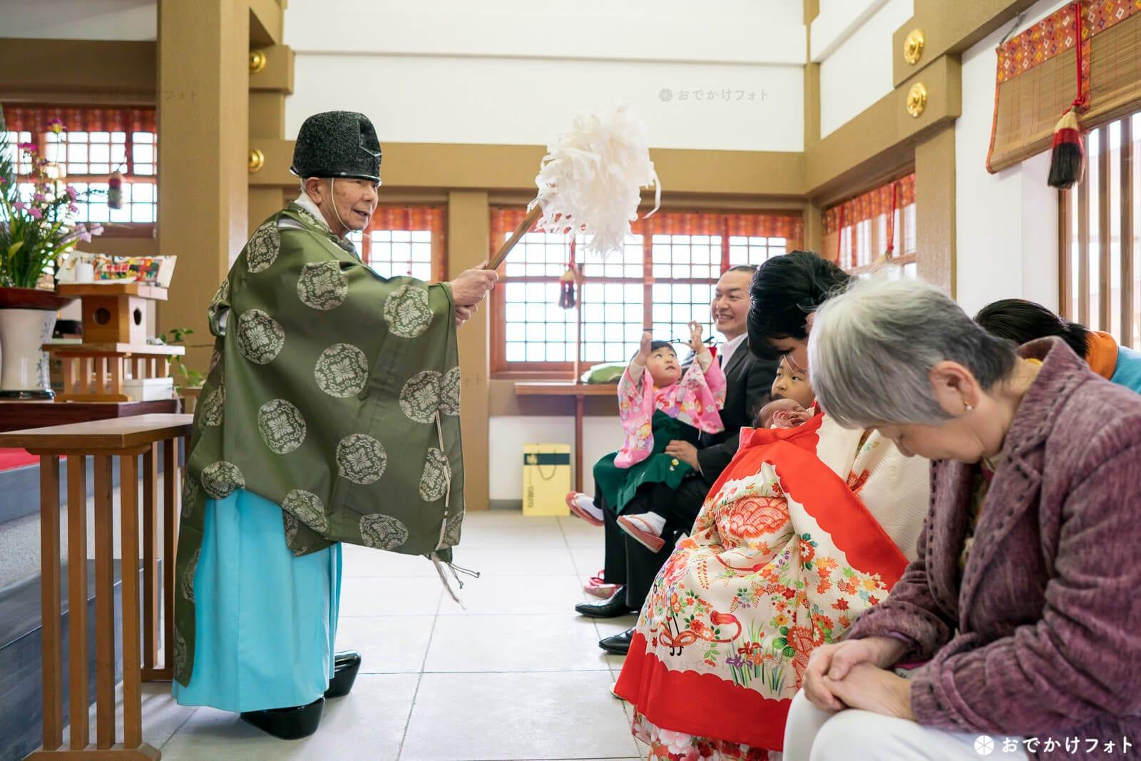 光雲神社でお宮参り
