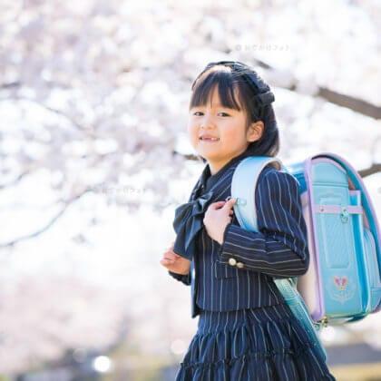 駕与丁公園で入園入学の記念写真