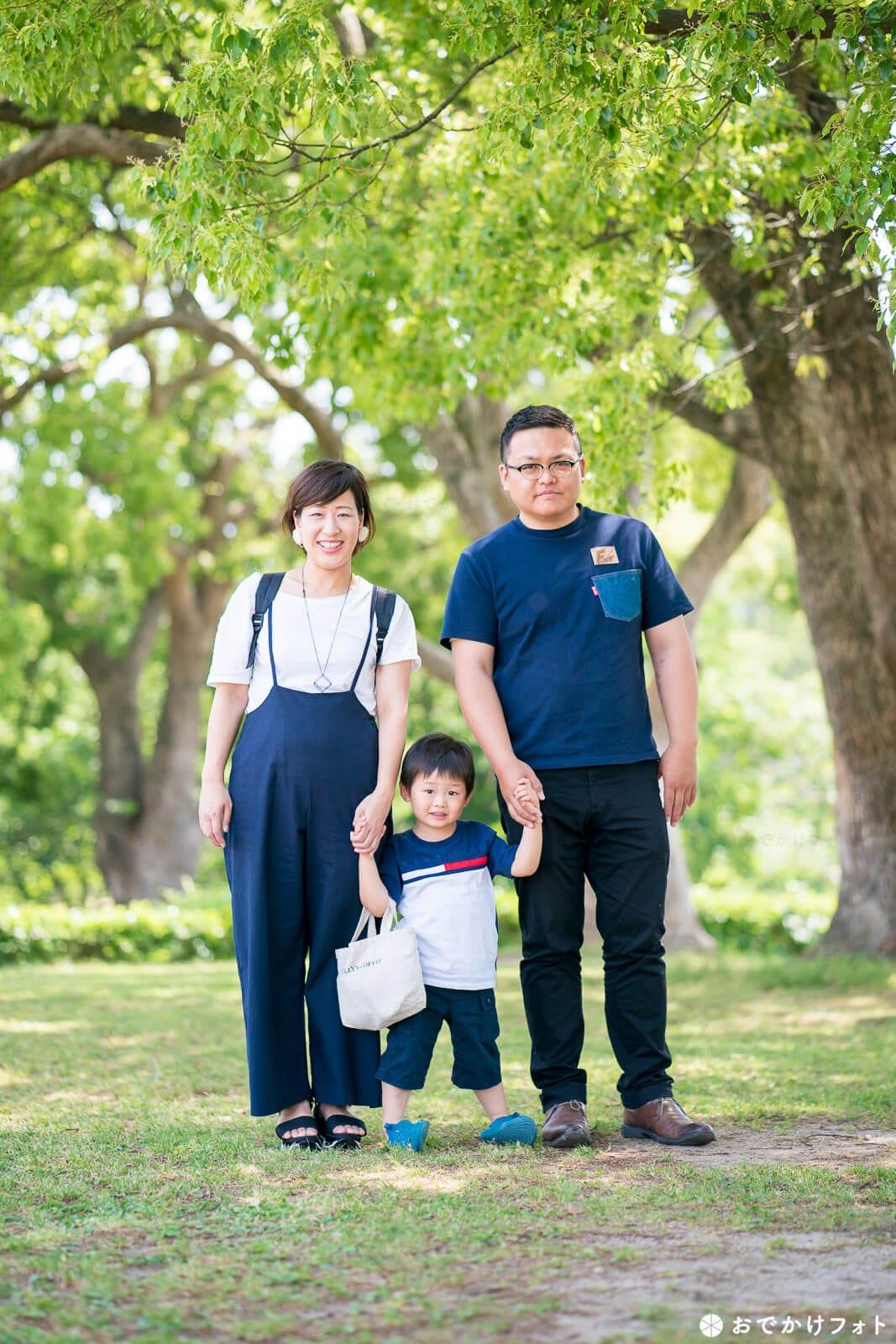 駕与丁公園・家族写真