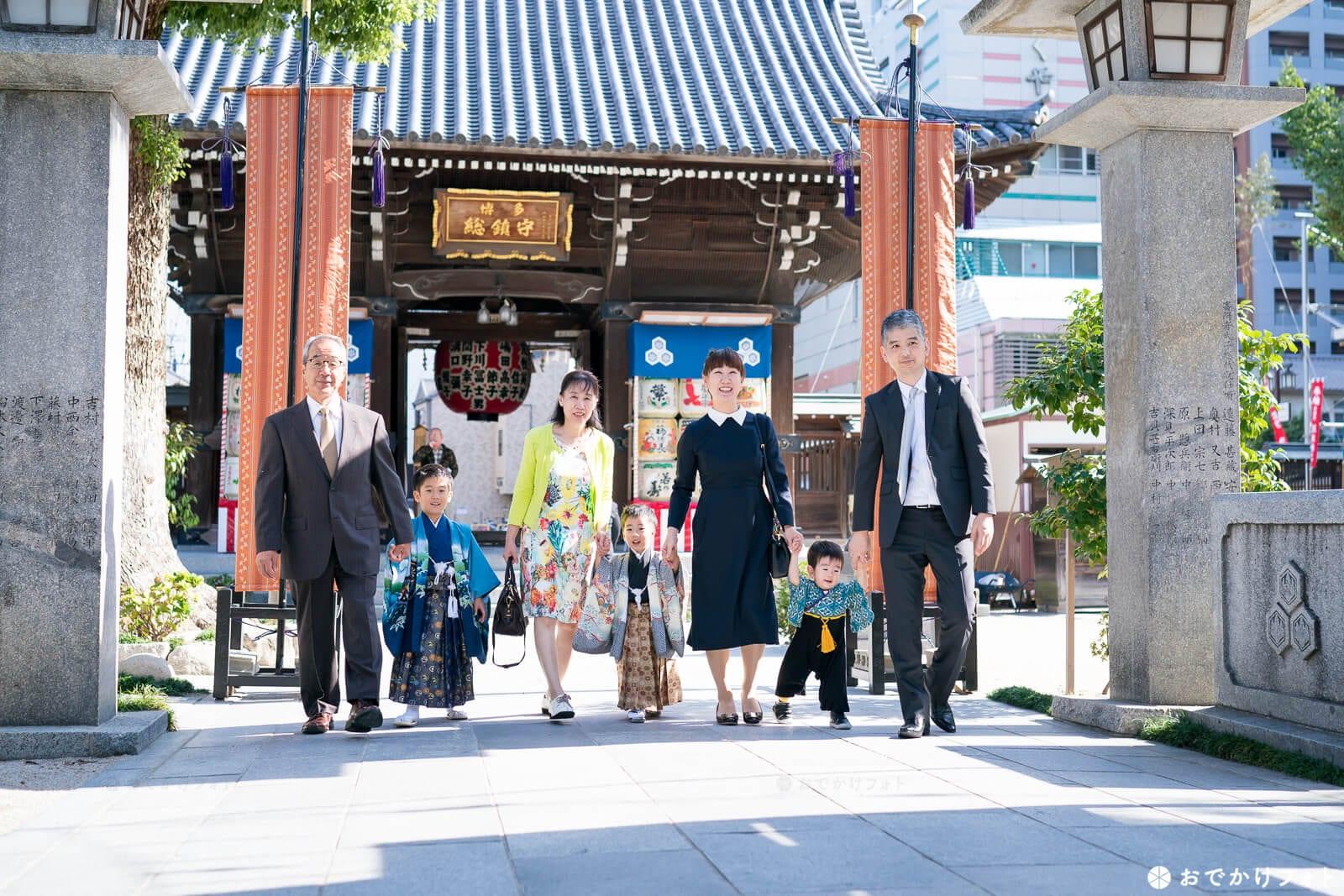 櫛田神社で七五三
