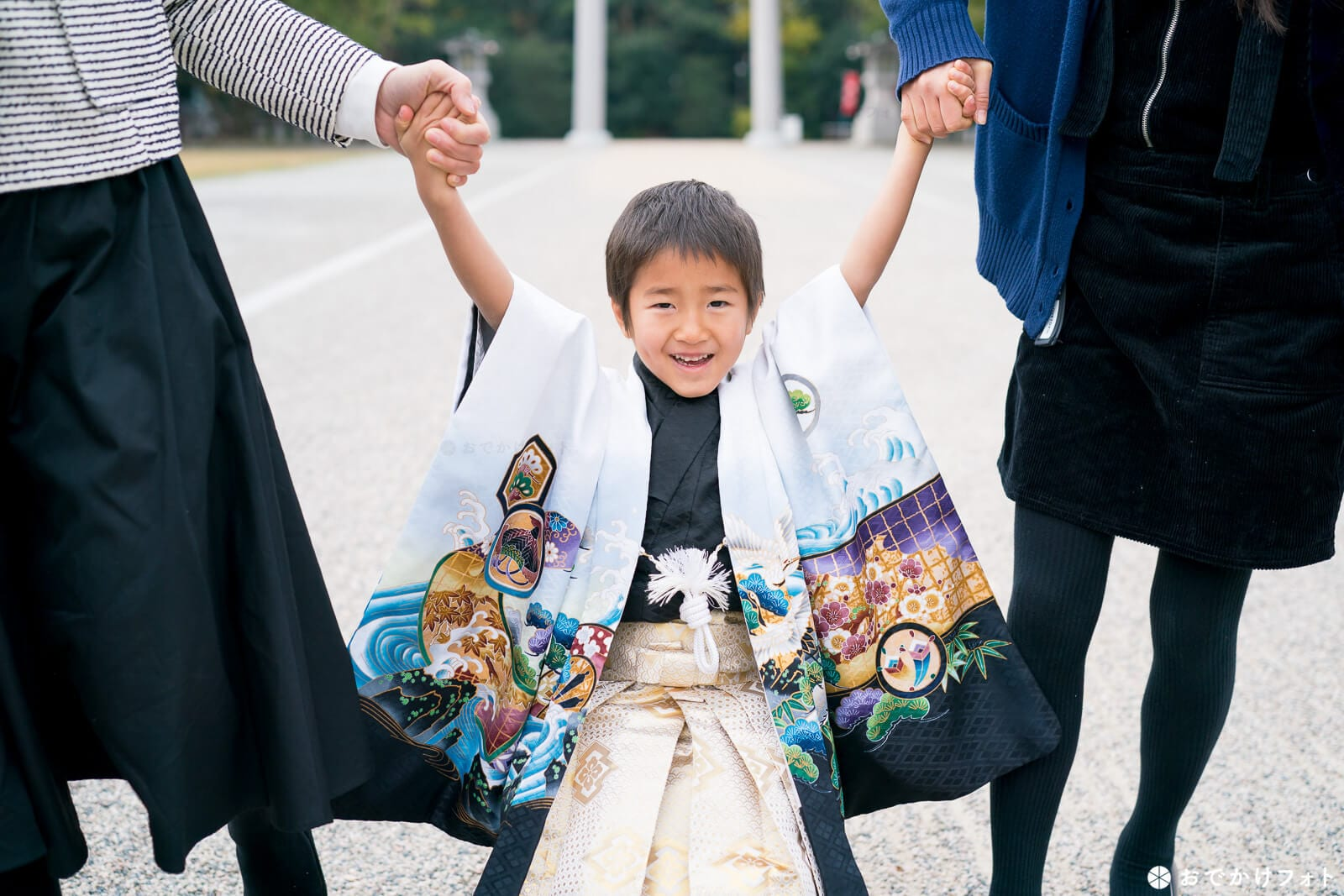 福岡縣護国神社で七五三写真の出張撮影