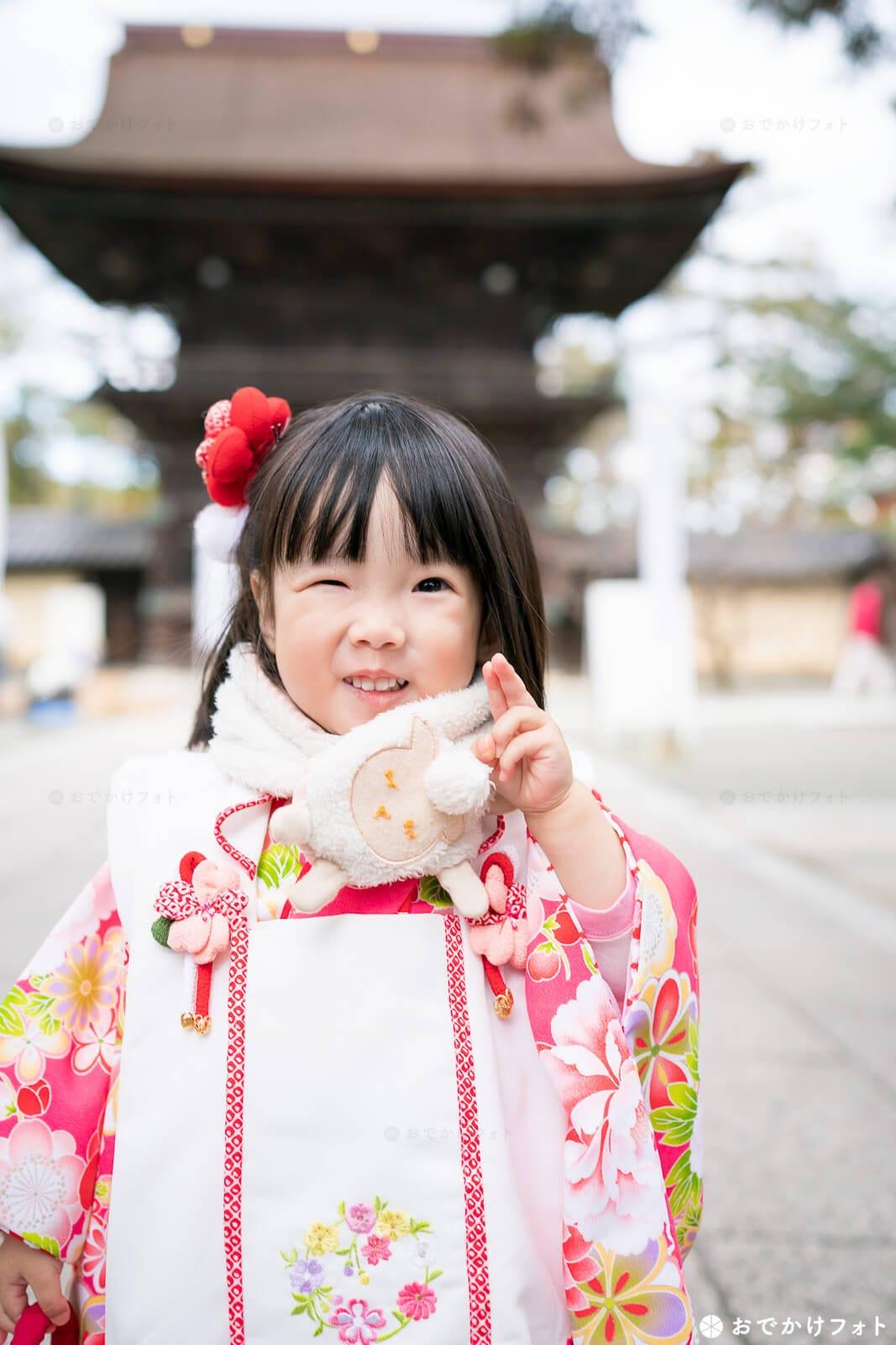 福岡市東区香椎宮で七五三写真の出張撮影