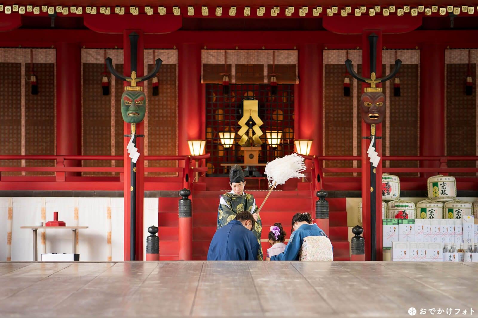 筥崎宮で七五三の出張写真撮影