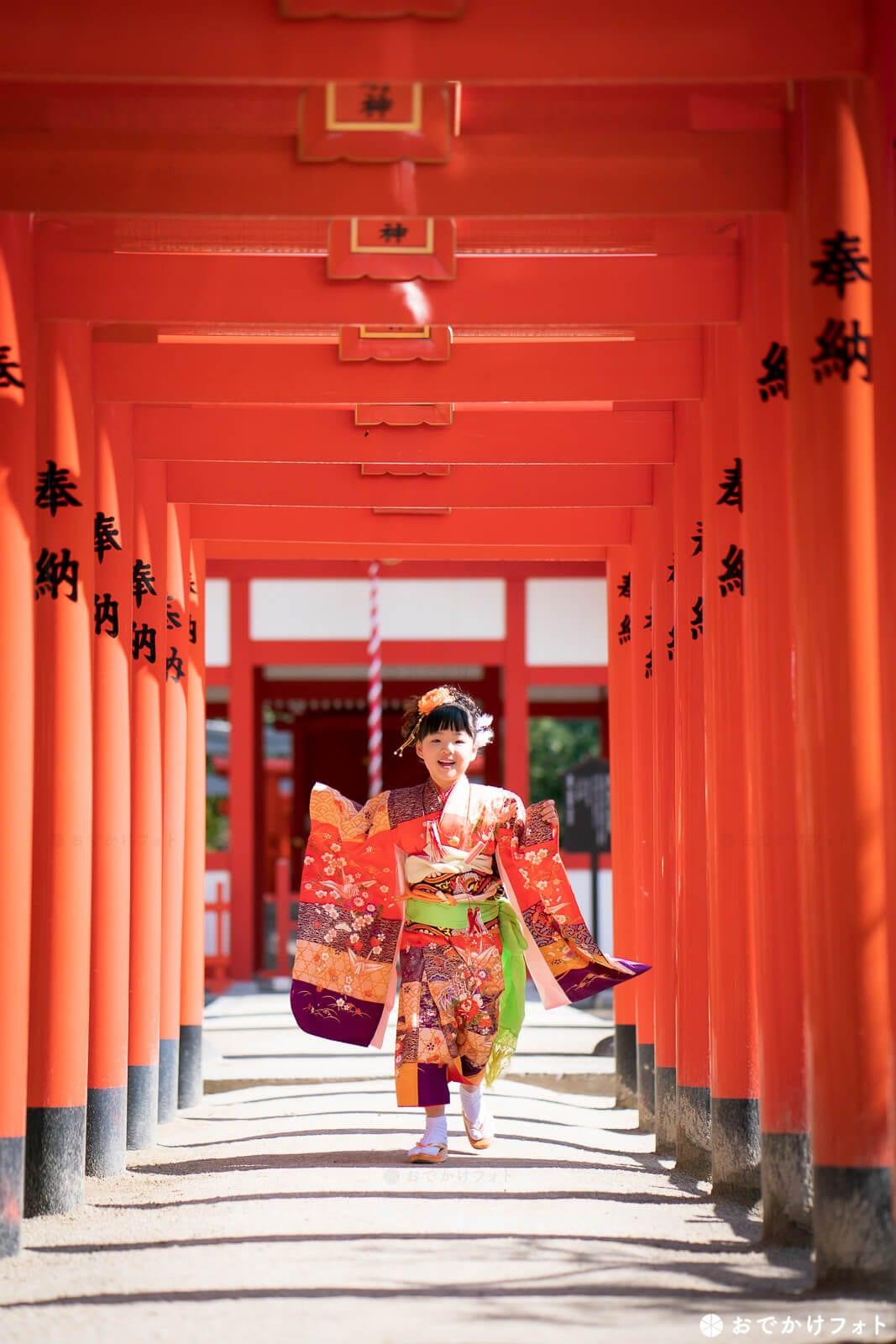 住吉神社 稲荷神社の赤い鳥居