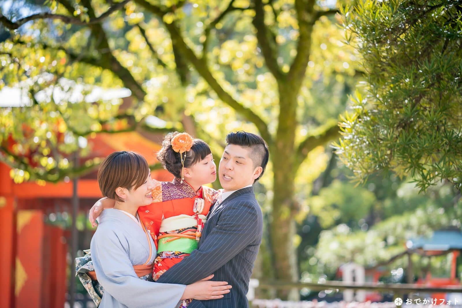 住吉神社で七五三写真のロケーションフォト出張撮影
