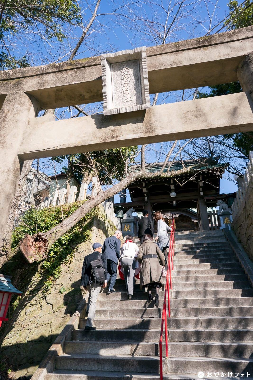 福岡愛宕神社の本殿まで続く階段