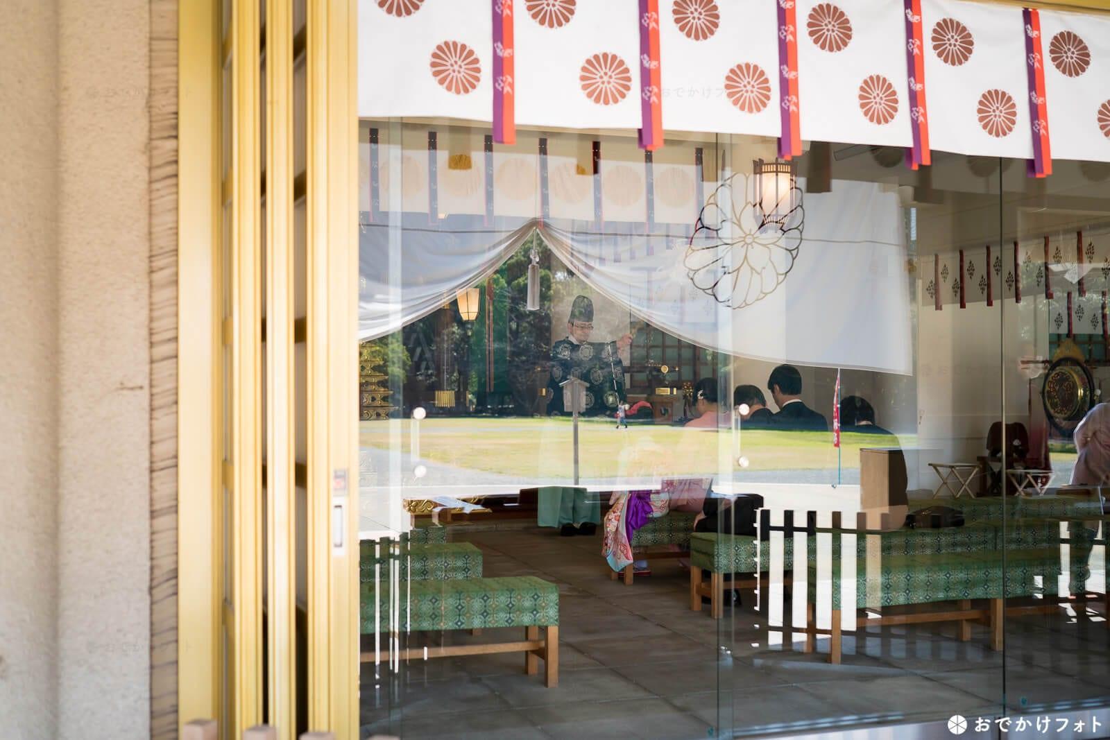 福岡縣護国神社で七五三のロケーションフォト出張撮影の写真