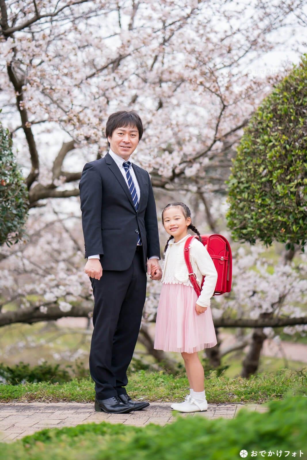 入学記念の前撮りロケーションフォト出張撮影