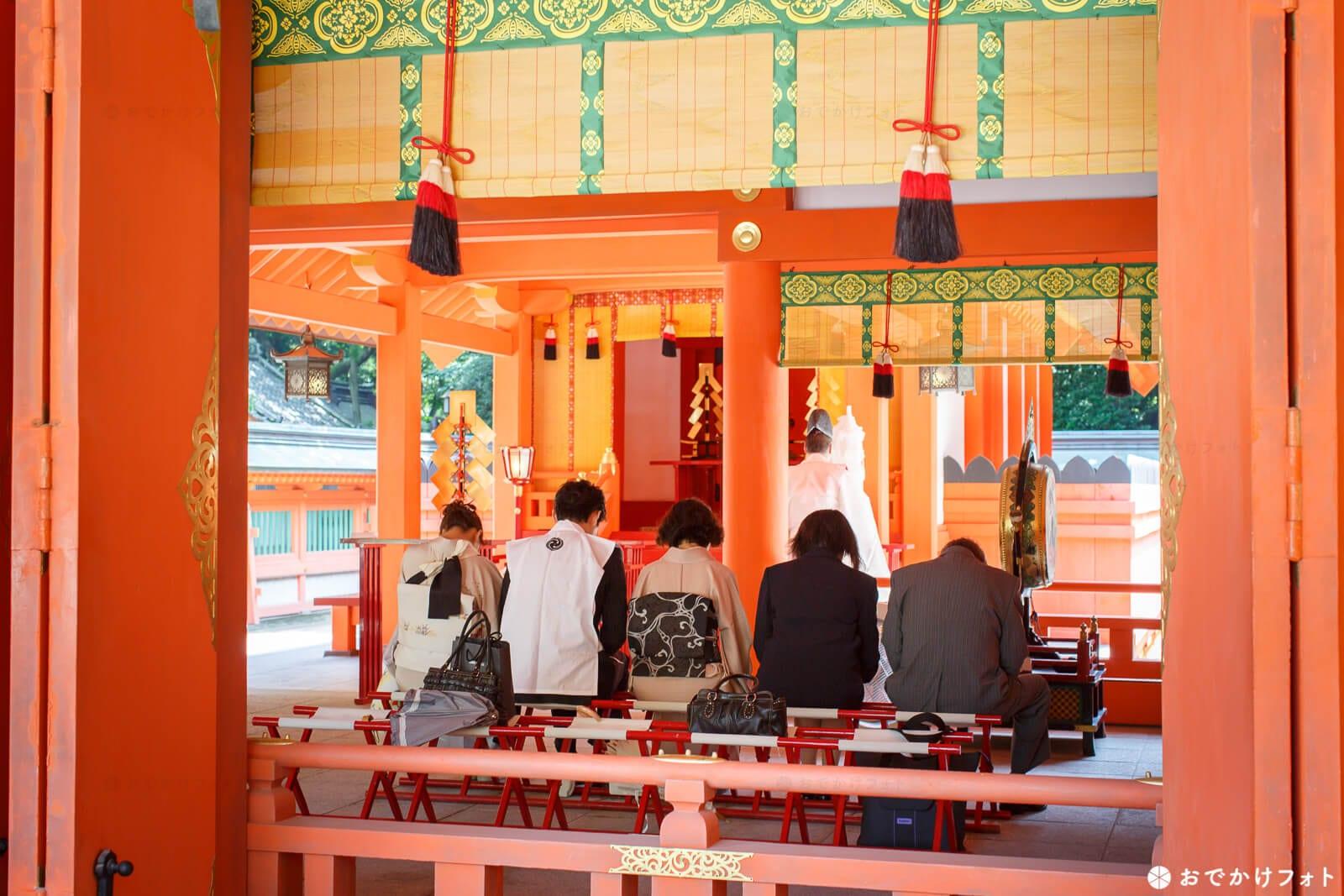 住吉神社でお宮参り