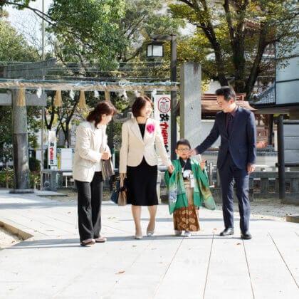 春日神社で七五三 福岡