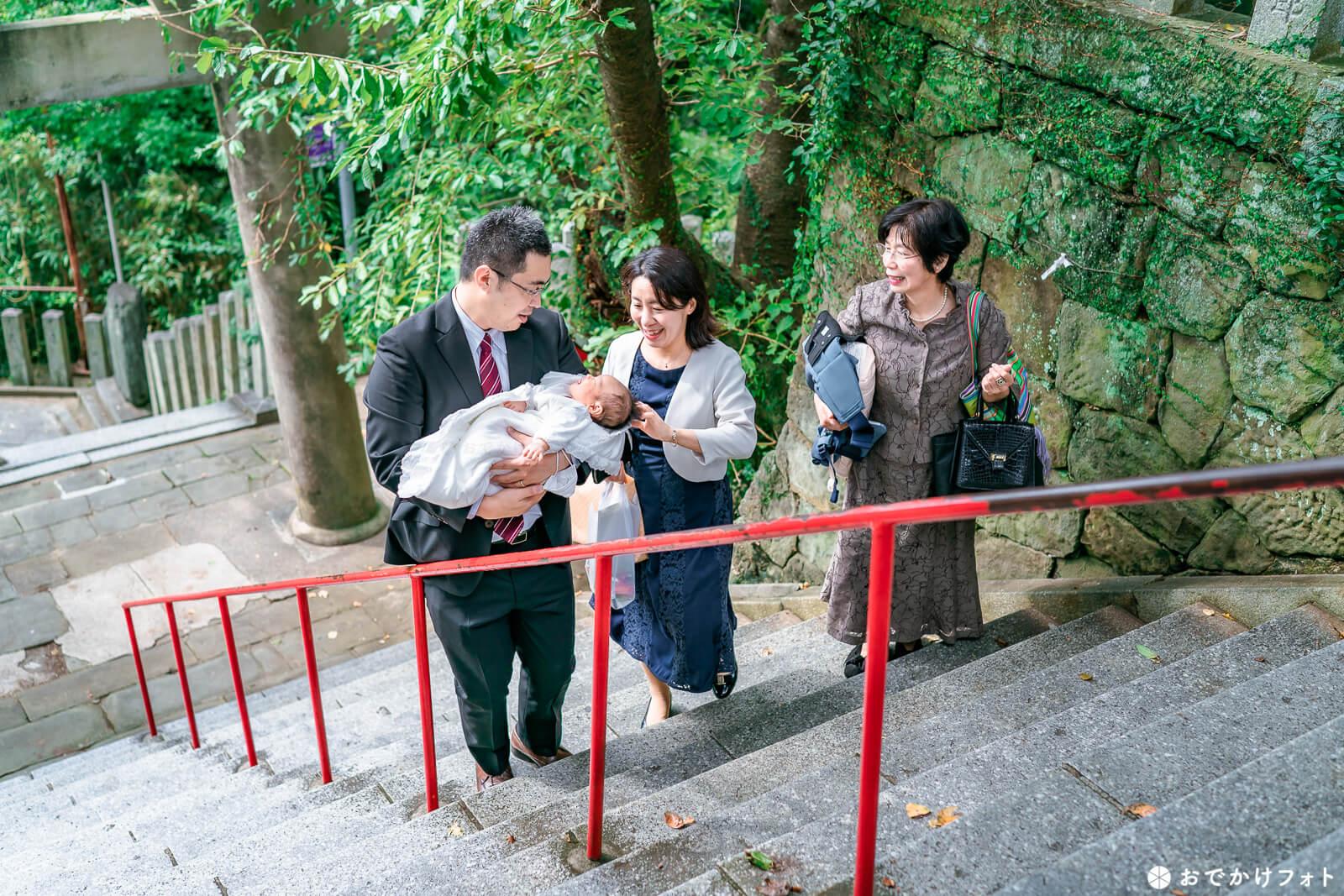 愛宕神社でお宮参り