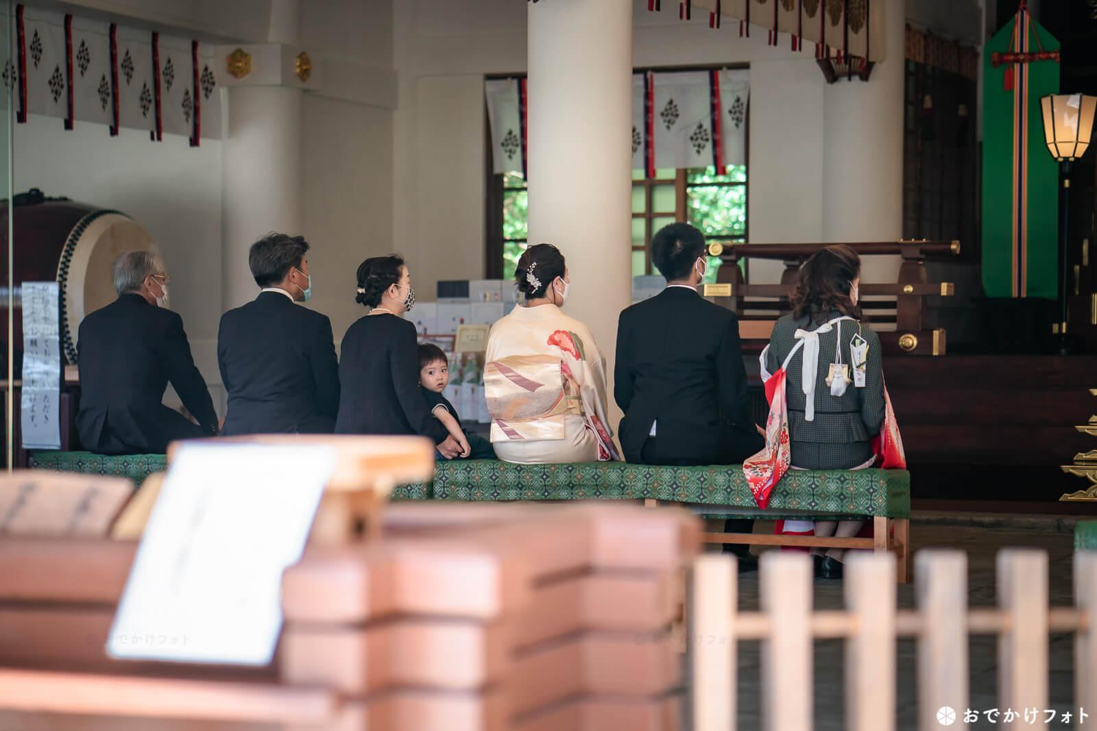 福岡縣護国神社でお宮参り