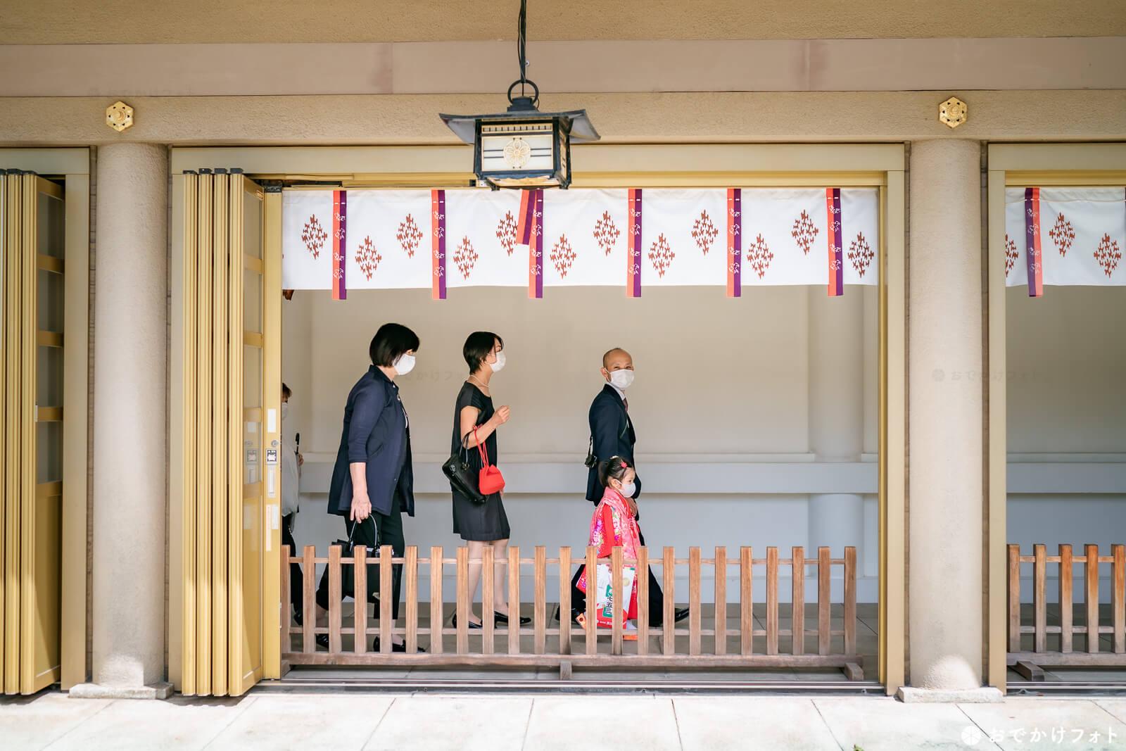福岡縣護国神社で七五三