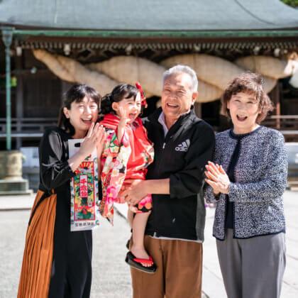 宮地嶽神社で七五三の出張撮影