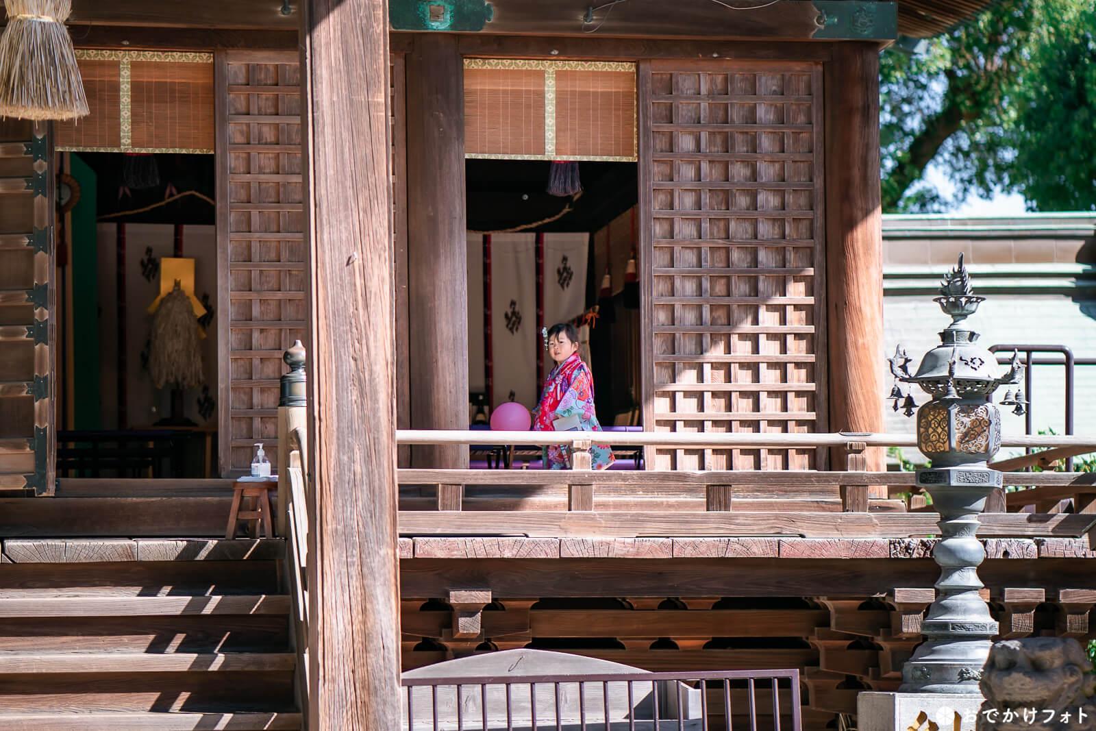 久留米水天宮で七五三の出張撮影