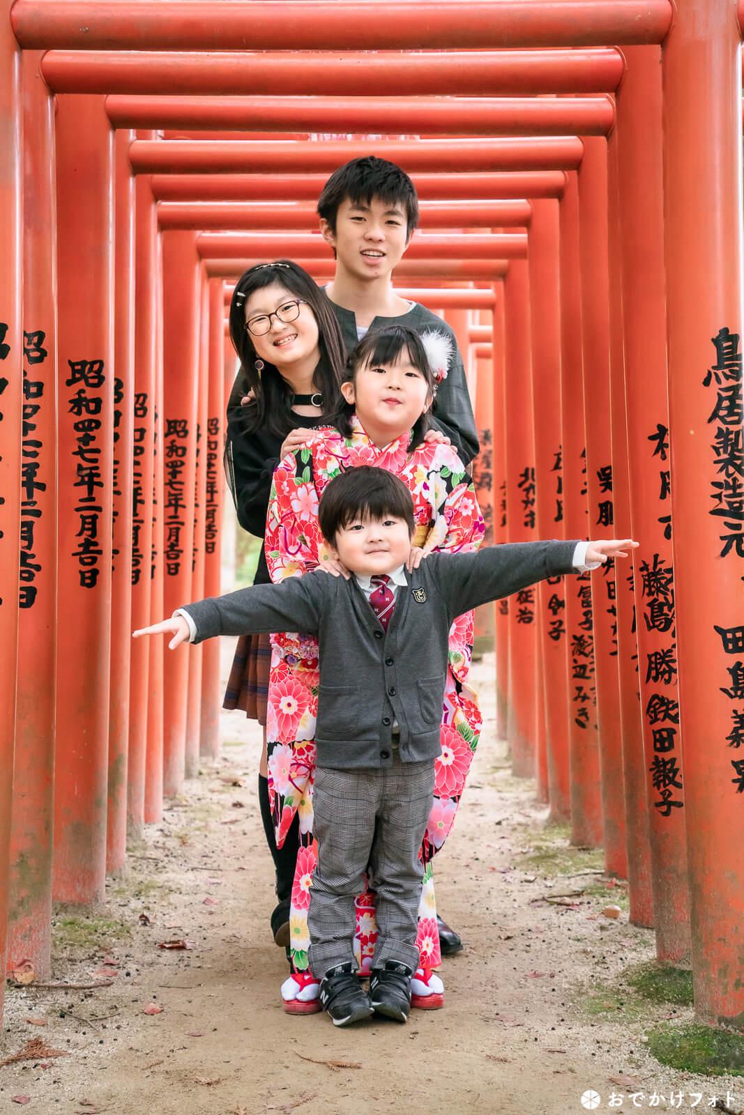 竈門神社で七五三の出張撮影