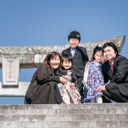 光雲神社で七五三の出張撮影