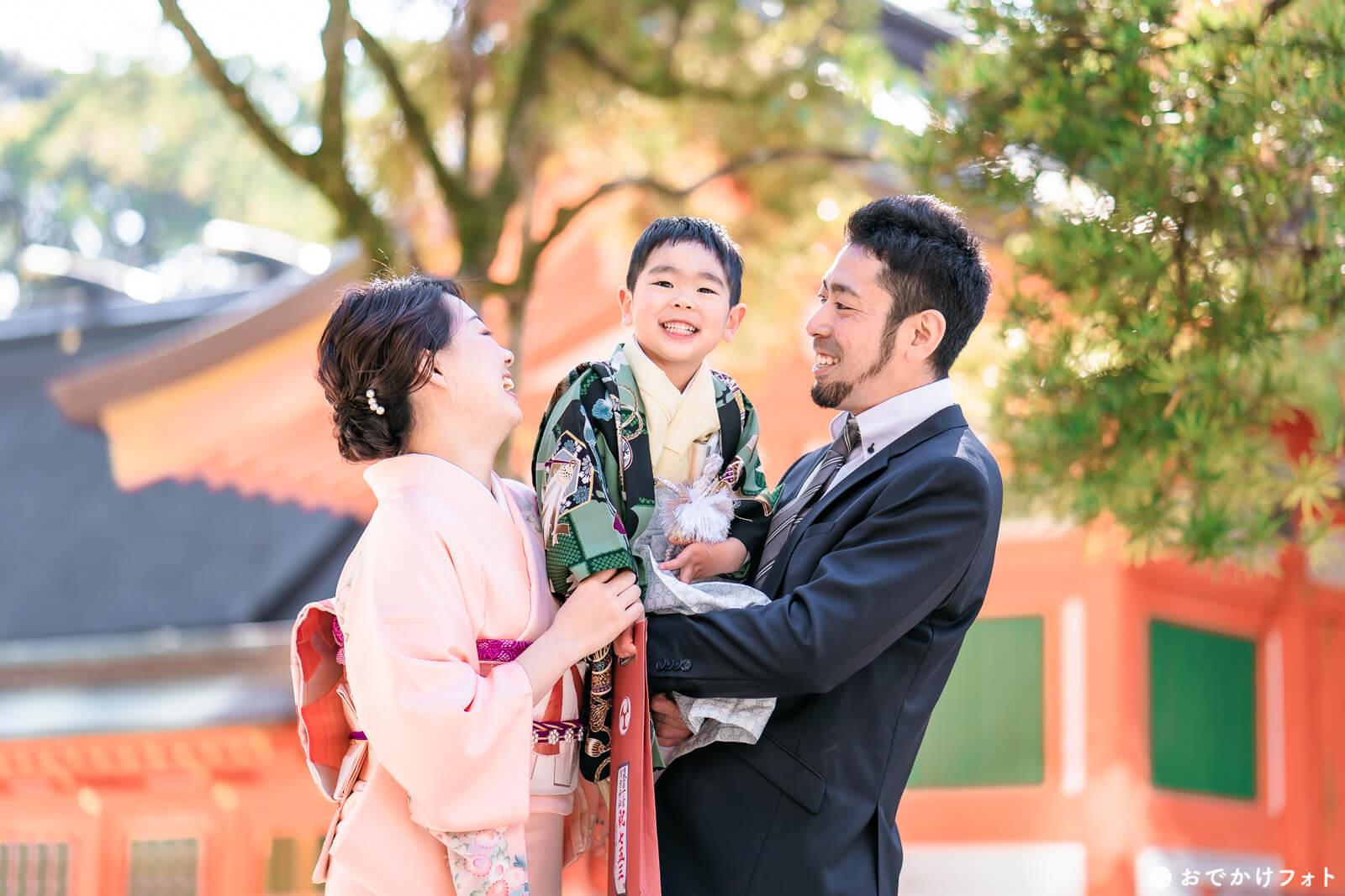 住吉神社で七五三の出張撮影