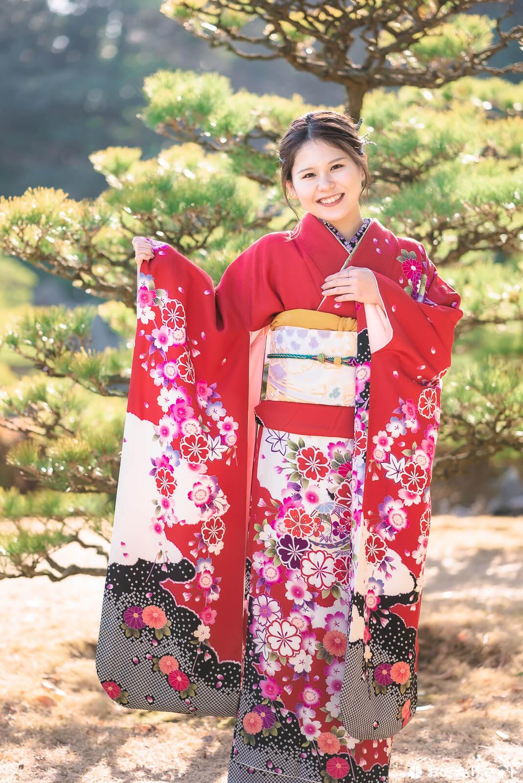 大濠公園日本庭園で成人式のロケーション前撮り