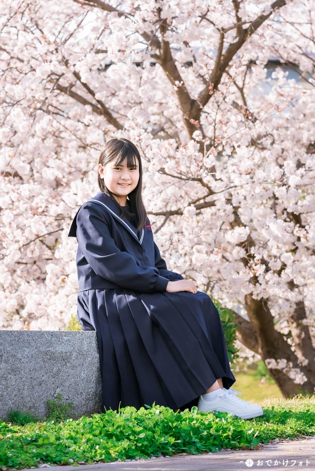 入学記念の桜ロケーションフォト出張写真撮影
