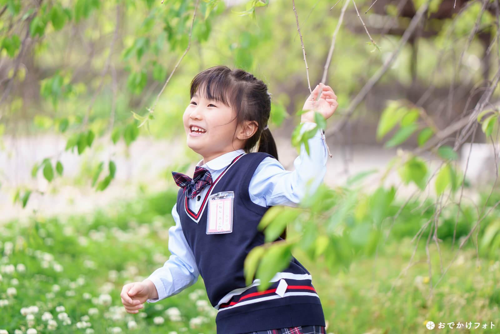 入学記念のロケーションフォト出張写真撮影