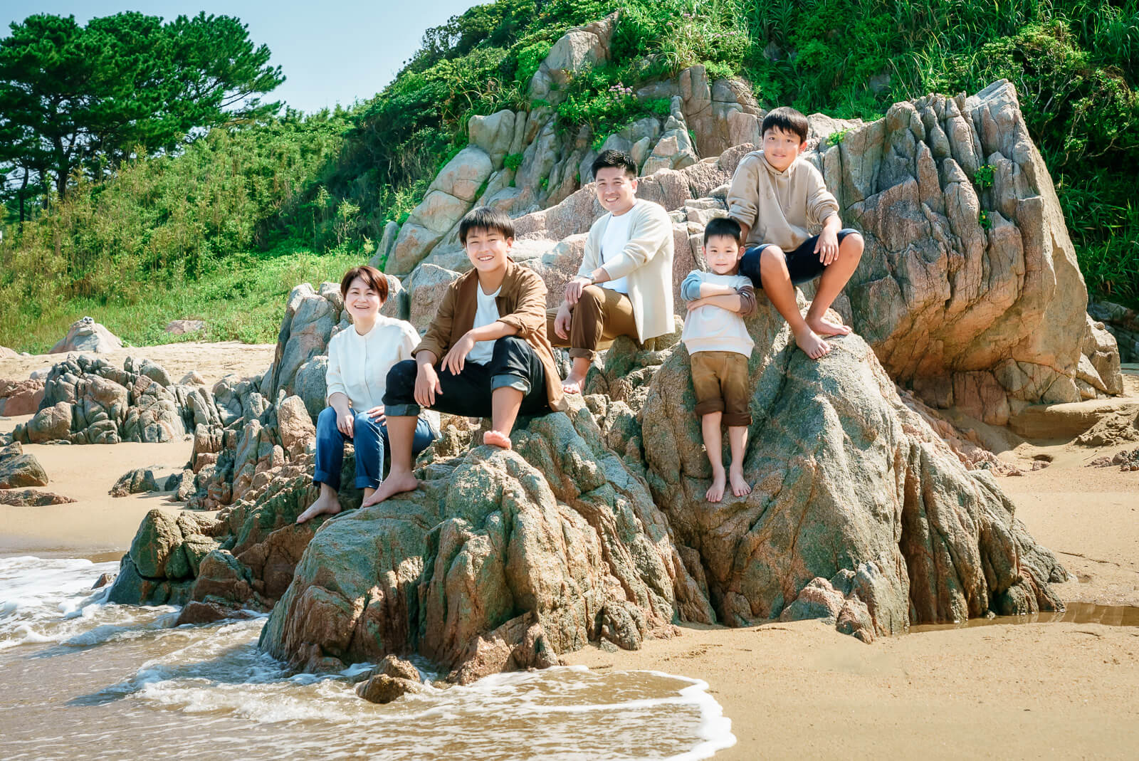 家族写真、福岡でロケーションフォト出張撮影