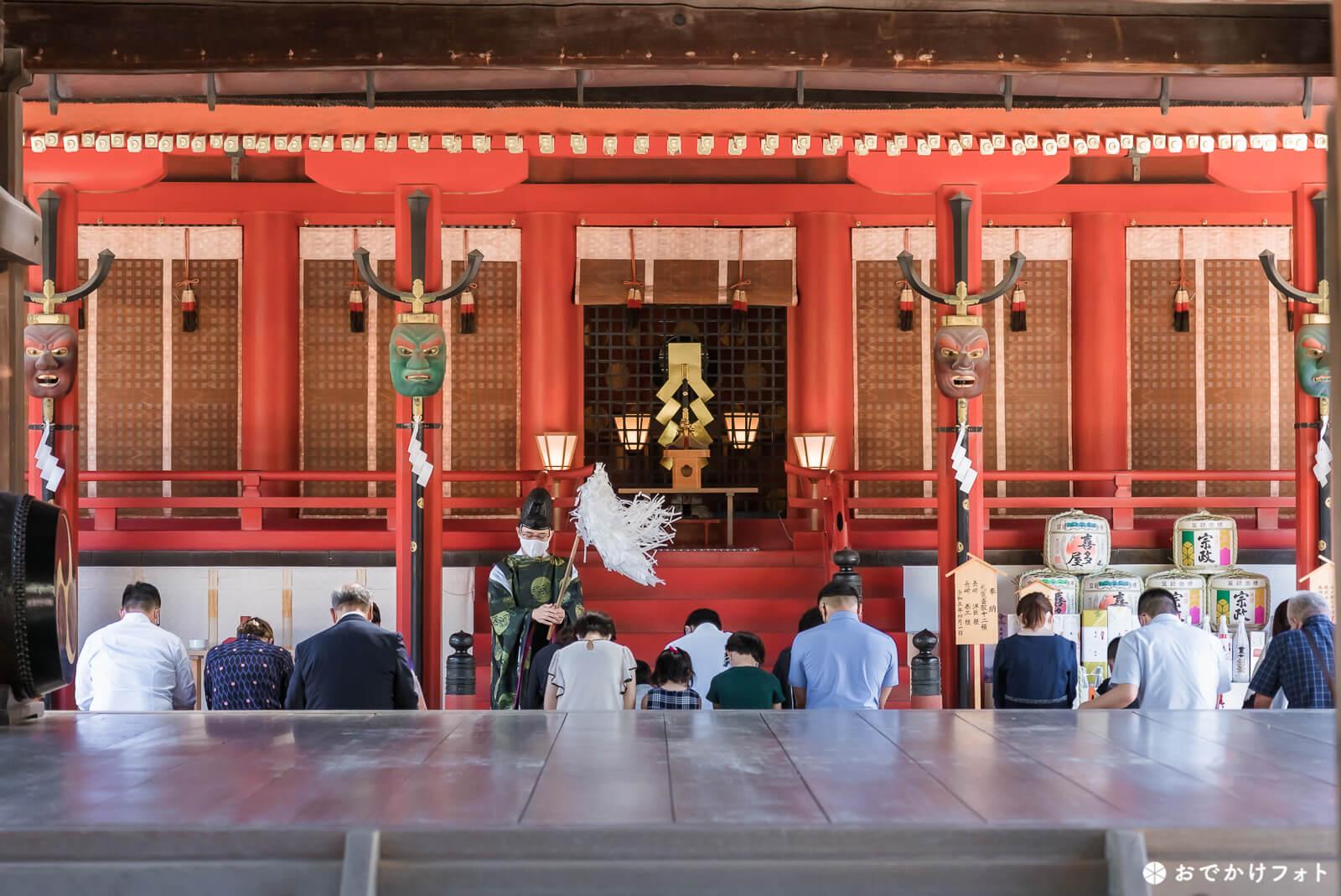 筥崎宮でお宮参りの出張撮影